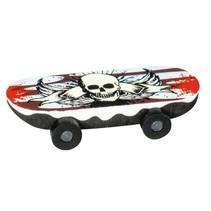 gum skateboard schedel wit/rood 6 cm