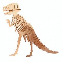 3D-puzzel T-Rex 11 x 15 cm hout bruin