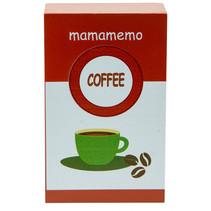 pak koffiebonen 10 cm hout bruin/wit