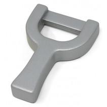 dunschiller 7 cm hout zilver