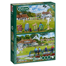 puzzel Village Greens karton 1000 stukjes 2 stuks