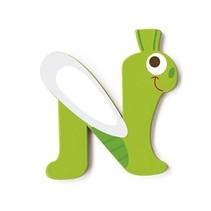 letter N libelle groen 5.5 cm