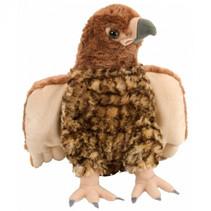 knuffel havik 30 cm pluche bruin/taupe