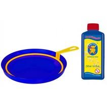 bellenblaasset 250 ml blaasring met bak blauw