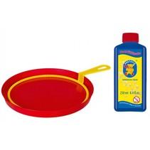 bellenblaasset 250 ml blaasring met bak rood