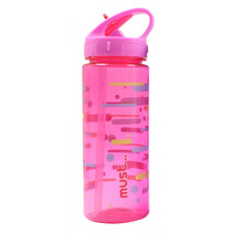 drinkfles meisjes 500 ml roze/transparant