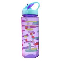 drinkfles 500 ml lichtblauw/paars/transparant