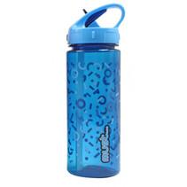 drinkfles 500 ml blauw/transparant