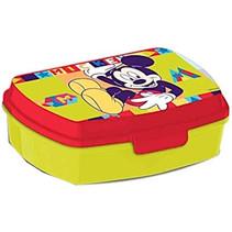 broodtrommel Mickey Mouse junior 20 cm geel/rood