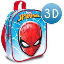 schooltas Spiderman 3D 30 cm polyester/EVA blauw/rood
