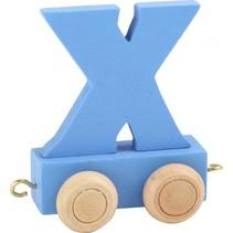 treinletter X blauw 6,5 cm