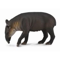 wilde dieren: Tapir 10 cm donkerbruin