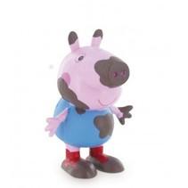speelfiguur Peppa Pig: George Mud 6 cm roze