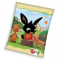 fleecedeken Bunny Haas junior 110 x 140 cm fleece