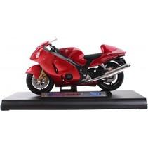 metalen motorminiatuur Suzuki rood 12 cm