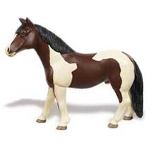 boerderijdier Pinto Mare paard junior 12,45 cm bruin/wit