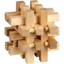 Be clever! houten smart puzzels vierkant