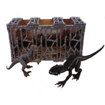 dino's in kooi zwart 41 cm