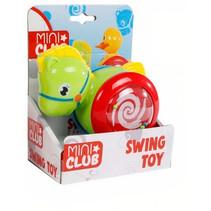 babyspeelgoed rollende eend 13 cm groen