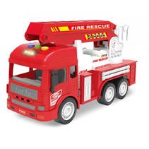 brandweerwagen Rescue jongens 33 x 22 cm rood