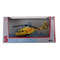 helikopter die cast geel