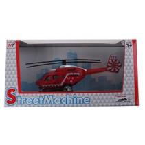 helikopter die cast rood