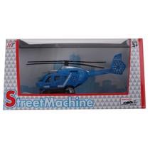 helikopter die cast blauw