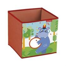 opbergbox nijlpaard 31 x 31 x 31 cm rood