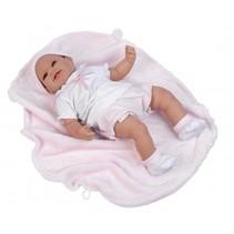 babypop Mar 45 cm met deken roze