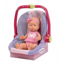 babypop in draagstoel 40 cm roze