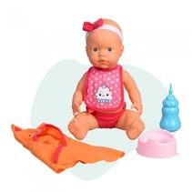 babypop Curiosete met badjas 40 cm roze