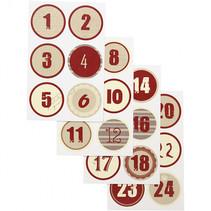 stickervellen kerstkalender 9x14 cm 4 stuks