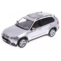 RC BMW X5 schaal 1:18 zilver 24 cm