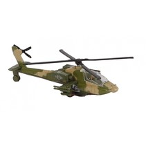 militaire helikopter diecast pull-back 1:88 groen