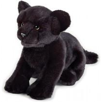 knuffelpanter junior 25 cm pluche zwart
