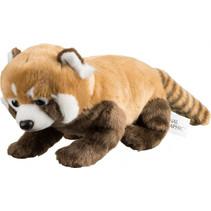 knuffel baby panda junior 35 cm pluche bruin