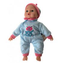 babypop meisjes 26 cm blauw/roze