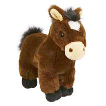 knuffel paard junior 24 cm pluche bruin