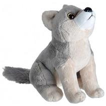 knuffel wolf 20 cm pluche grijs/taupe