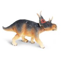 dinosaurus Diabloceratops junior 15 cm rubber zwart/bruin/rood