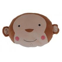 knuffelkussen aap bruin 30 x 30 cm