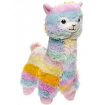 knuffel alpaca regenboog junior polyester 25 cm