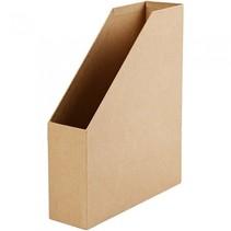 tijdschriftenhouder karton 31,5 x 25,5 cm bruin per stuk