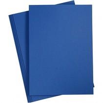 karton donkerblauw A4 180 gram 20 vellen