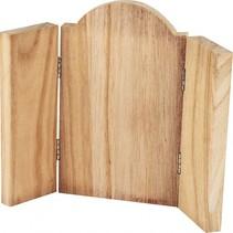 houten drieluik ikoon 18 x 22 cm