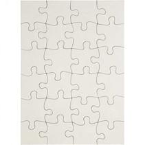puzzel TeACH Me 15 x 21 cm karton wit 16 stuks