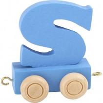 treinletter S blauw 6,5 cm