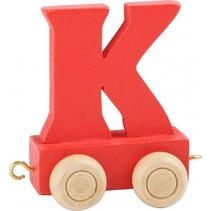 treinletter K rood 6,5 cm