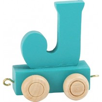 treinletter J blauw 6,5 cm