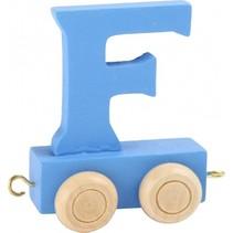 treinletter F blauw 6,5 cm